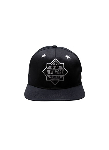 Laslusa No 45 New York Hip Hop Snapback Şapka Siyah